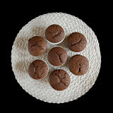 Chocolate muffin on black background Royalty Free Stock Photo