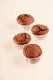 Chocolate muffin with blueberries Stock Photos