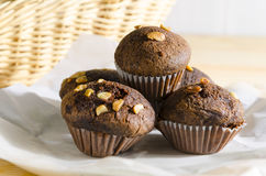 Chocolate muffin cake Royalty Free Stock Images