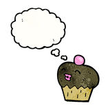 chocolate muffin cartoon Royalty Free Stock Images