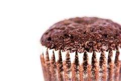Chocolate muffin close up Stock Photo