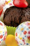 Chocolate muffin  closeup Royalty Free Stock Photo