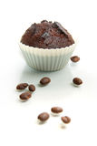 Chocolate Muffin with coffee beans Royalty Free Stock Images