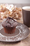 Chocolate muffin with cup of tea Stock Photo
