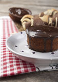Chocolate muffin and the cupcakes. Close up photo Stock Photography