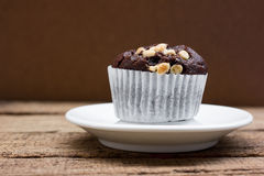 Chocolate muffin. Stock Photos