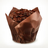 Chocolate muffin icon Stock Images