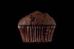 Chocolate Muffin Isolated on a Black Background Royalty Free Stock Photo