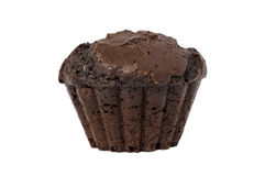 Chocolate muffin isolated over white Stock Photography