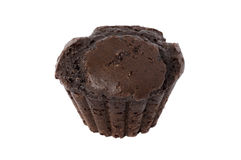 Chocolate muffin isolated over white Stock Photos