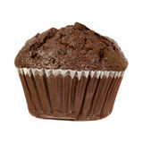 Chocolate Muffin Isolated on a White Background Royalty Free Stock Images