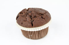 Chocolate muffin, isolated on white Royalty Free Stock Photo