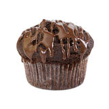 Chocolate muffin with liquid chocolate Stock Image