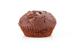 Chocolate muffin over white. Royalty Free Stock Photo