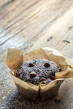 Chocolate muffin with sugar Royalty Free Stock Image