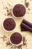 Chocolate muffin sweet cake food Stock Image