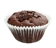 Chocolate muffin sweet cake food Stock Photography