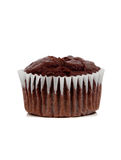 A chocolate muffin on white Royalty Free Stock Images