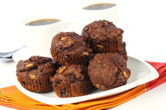 Chocolate Muffins Stock Photos