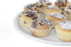 Chocolate muffins. Some chocolate muffins in white cup Stock Images
