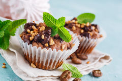 Chocolate Muffins and Coffee Stock Image