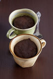 Chocolate muffins in cup a Stock Photo