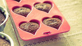 Chocolate muffins ( Filtered image processed vintage ef Royalty Free Stock Images