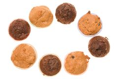 Chocolate muffins frame Royalty Free Stock Image