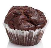 Chocolate muffins isolated Royalty Free Stock Photography