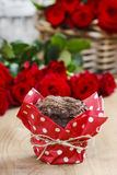 Chocolate muffins on party table Royalty Free Stock Photo