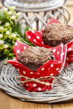 Chocolate muffins on party table Royalty Free Stock Photography