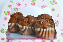 Chocolate Muffins on the stand Royalty Free Stock Photography