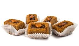 Chocolate muffins with walnuts  Stock Photo