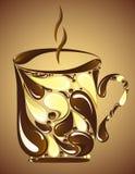 Chocolate mug on brown background Royalty Free Stock Photography