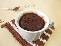 Chocolate mug cake in cup Royalty Free Stock Images