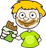 Chocolate na face! Imagens de Stock Royalty Free
