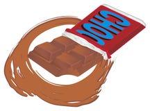 Chocolate na folha ilustração do vetor