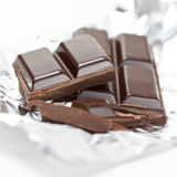 Chocolate na folha de alumínio Foto de Stock