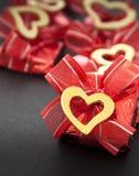 Chocolate na folha vermelha Imagem de Stock Royalty Free