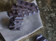 Chocolate on a napkin Royalty Free Stock Images