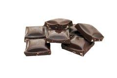 Chocolate negro de la tuerca Fotografía de archivo
