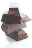 Chocolate negro sin procesar Imagen de archivo