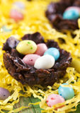 Chocolate nest Stock Photography