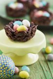 Chocolate nest Stock Photo
