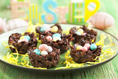 Chocolate nest Stock Photos