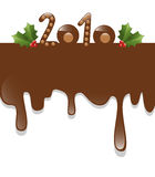 Chocolate new year 2010. New year 2010 with chocolate dripping down on a white background royalty free illustration