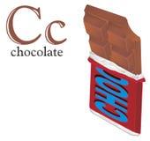 Chocolate no bloco e no ABC ilustração do vetor