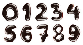Chocolate numbers Royalty Free Stock Images