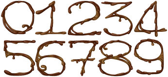 Chocolate numbers Stock Images