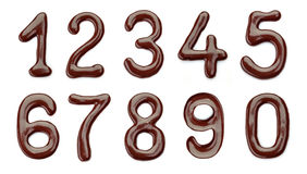 Chocolate numbers Stock Photo